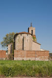 Granollers Church. Ancient church surrounded by vegetation Granollers stock image