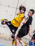 Granollers CUP 2013. Player shooting the ball Royalty Free Stock Images