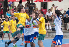 Granollers CUP 2013. Player shooting Royalty Free Stock Photography