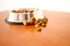 Granos alimenticios de perro de Coulourfull Foto de archivo libre de regalías