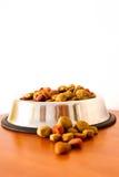 Granos alimenticios de perro de Coulourfull Imagen de archivo libre de regalías