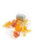 Granos anaranjados Imagenes de archivo