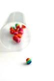 Granos coloridos de la artesanía Imagen de archivo libre de regalías