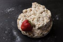Granos con strawbery Imagen de archivo