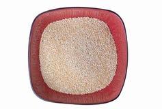 Granos crudos de la quinoa Foto de archivo libre de regalías