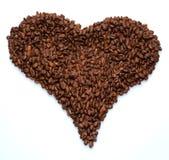 Granos de café aislados Imagen de archivo