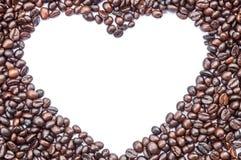 Granos de café aislados Imagen de archivo libre de regalías