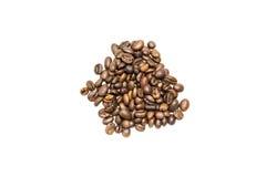 Granos de café aislados Foto de archivo libre de regalías