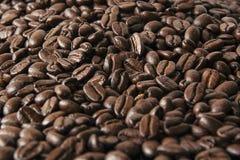 Granos de café asados como fondo Imágenes de archivo libres de regalías