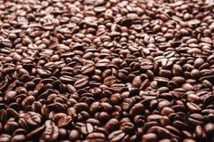 Granos de café asados Fondo Imagenes de archivo