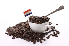 Granos de café asados oscuros Imagenes de archivo