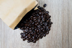 Granos de café de la carne asada Imagenes de archivo