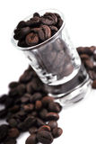 Granos de café del café express Foto de archivo libre de regalías