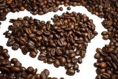 Granos de café del fondo del café Imagenes de archivo