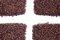 Granos de café derramados Imágenes de archivo libres de regalías