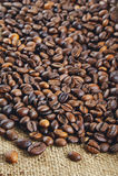 Granos de café Fondo Fotos de archivo