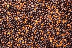 Granos de café, fondo de los granos de café Fotos de archivo libres de regalías