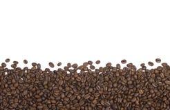 Granos de café fondo o frontera fotografía de archivo
