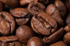 Granos de café Macro foto de archivo libre de regalías