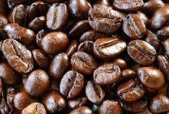 Granos de café macros. Imagenes de archivo