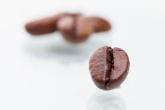 Granos de café macros Imagen de archivo libre de regalías