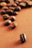 Granos de café uno Fotos de archivo libres de regalías