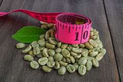 Granos de café verdes fotos de archivo libres de regalías