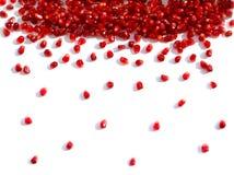 Granos de la granada flojamente, lluvia de granos imagen de archivo libre de regalías
