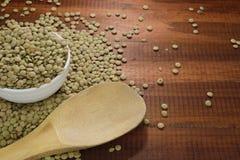 Granos de la lenteja, fuente de proteína vegetal y aminoácidos, Fotos de archivo libres de regalías