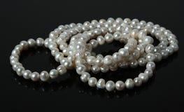 Granos de la perla Foto de archivo libre de regalías