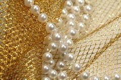 Granos de la perla de la decoración de la Navidad Imagenes de archivo