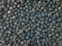 Granos de la pimienta negra Fotografía de archivo