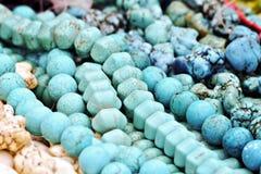 Granos de la turquesa Foto de archivo libre de regalías