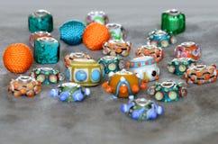 Granos de Lampwork Imágenes de archivo libres de regalías