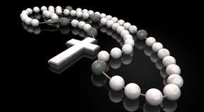 Granos de piedra del rosario Foto de archivo