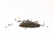 Granos de pimienta negros Fotos de archivo