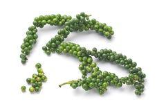 Granos de pimienta verdes Imagen de archivo libre de regalías