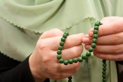 Granos de rezo del Islam Imágenes de archivo libres de regalías