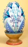Granos del bordado de la decoración de los huevos de Pascua foto de archivo