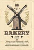 Granos del molino de viento y del trigo Molino harinero, panadería libre illustration