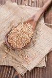 Granos del trigo Foto de archivo libre de regalías