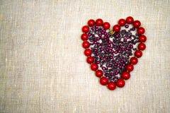 Granos en la dimensión de una variable de un corazón fotografía de archivo libre de regalías