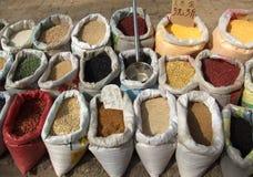 Granos enteros ricos nutritivos Imagen de archivo libre de regalías