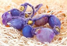 Granos púrpuras. Joyería Fotografía de archivo libre de regalías