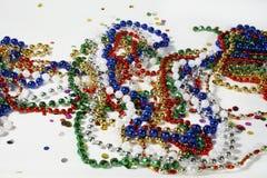 Granos y confeti de la Navidad imagen de archivo