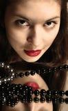 Granos y labios rojos. Foto de archivo libre de regalías