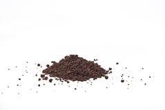 Granos y polvo de cacao Fotografía de archivo libre de regalías