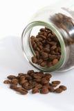 Granos y tarro de café Imagen de archivo