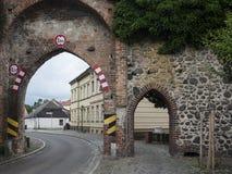 Gransee-Stadtmauer-Tor arkivfoton