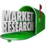 Granskning för studie för kund för brevlåda för ord för marknadsforskning 3d royaltyfri illustrationer